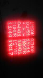 Membuat jadwal sholat digital display P10