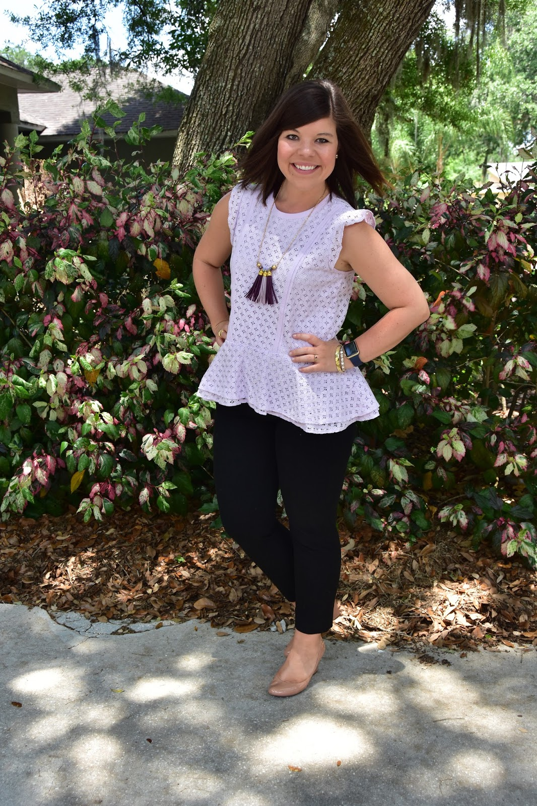 Workweek Chic: Lavender Peplum + iTunes GIVEAWAY!