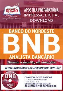 Concurso BNB - Apostila Preparatória Analista Bancário Banco do Nordeste