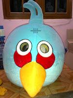 kostum blue bird badut