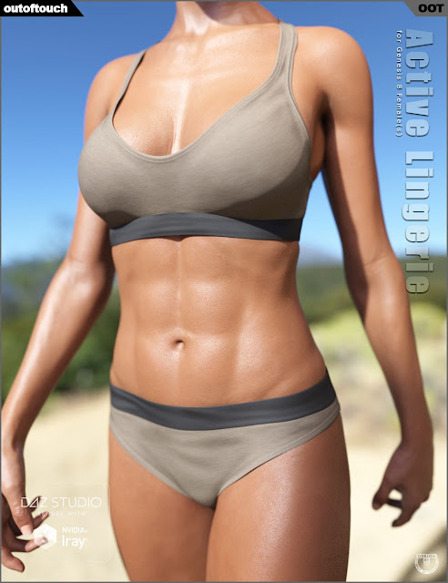 Active Lingerie for Genesis 8 Female