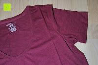 Ärmel: Lands' End - Baumwoll/Viskose-Shirt mit V-Ausschnitt
