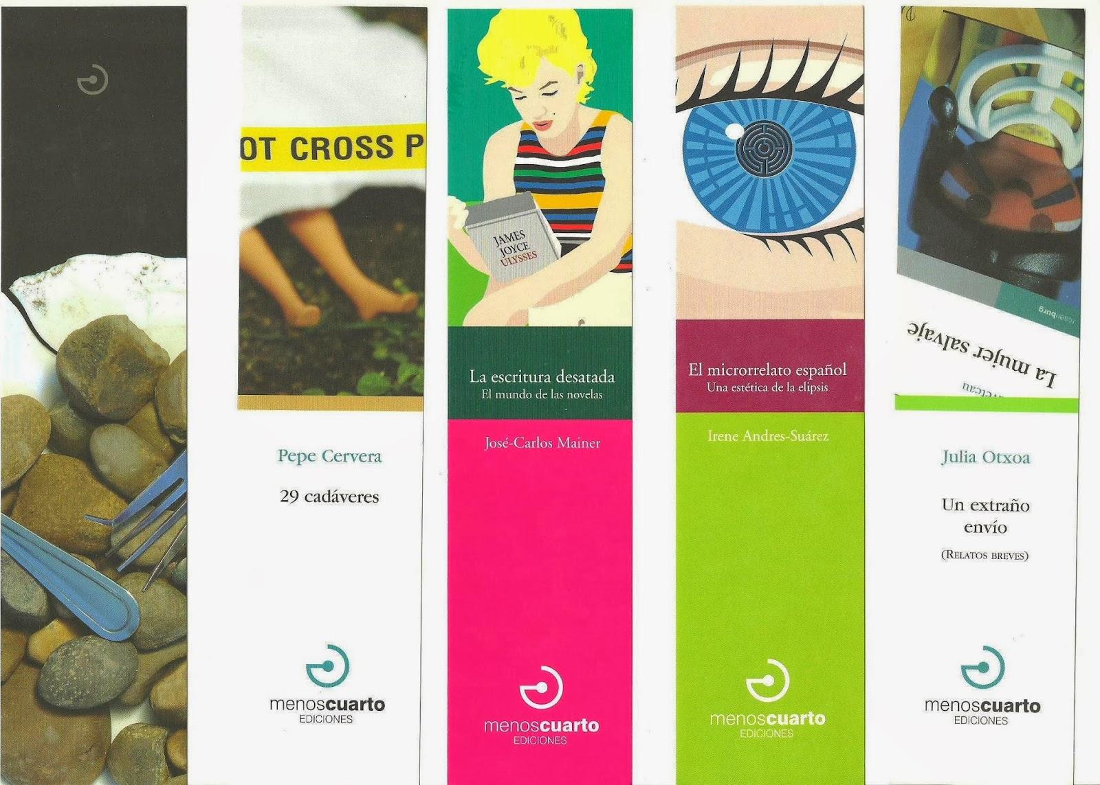 els punts de llibre: MENOS CUARTO EDITORIAL 2013 2a part