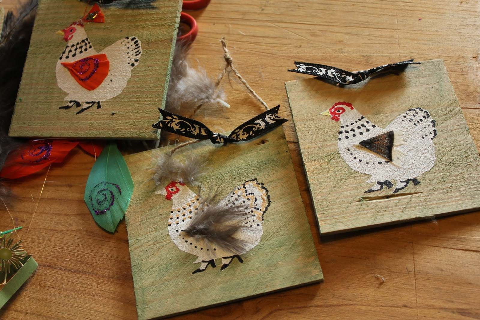 making greetings cards from scraps and decoupage
