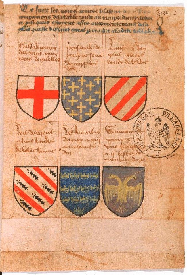 Herald dick magazine h raldique m di vale l 39 armorial - Blason chevalier table ronde ...