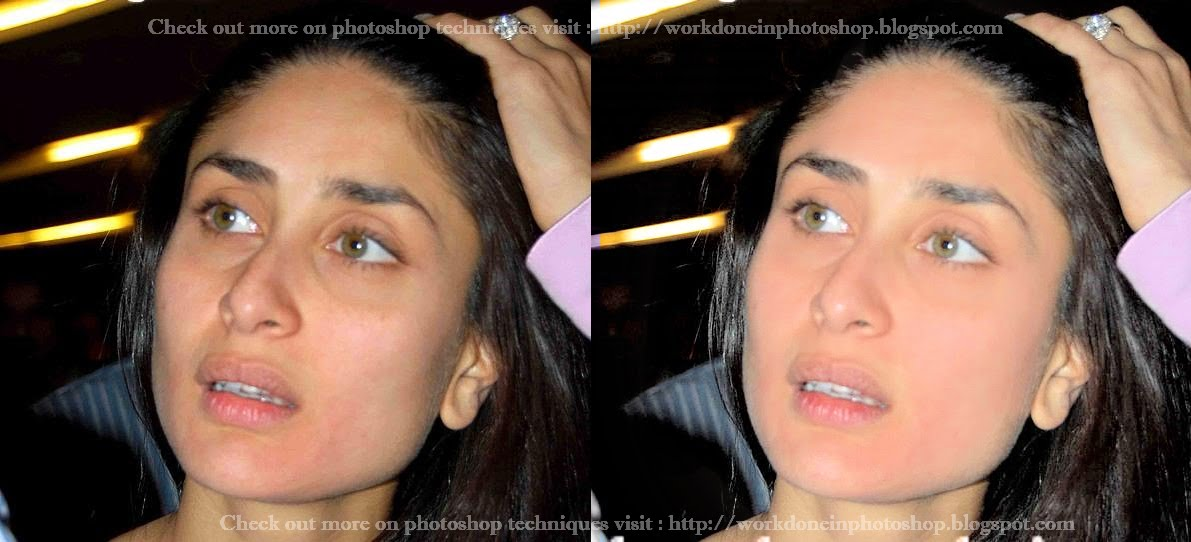 Work Done in Photoshop: Kareena Kapoor without Make-up