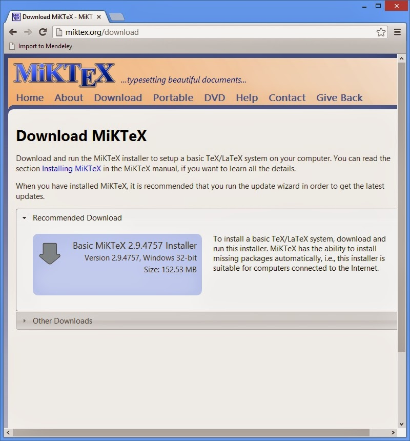 MIKTEX 2.8 TÉLÉCHARGER