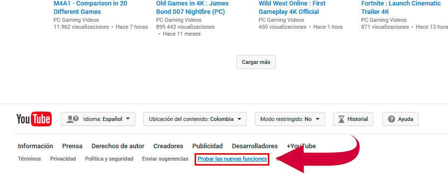 Prueba nuevas funciones de youtube