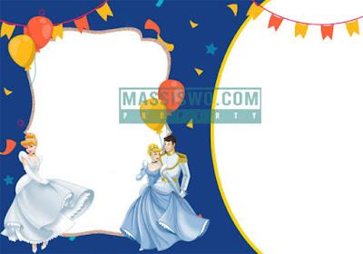 kartu undangan dengan background seorang putri