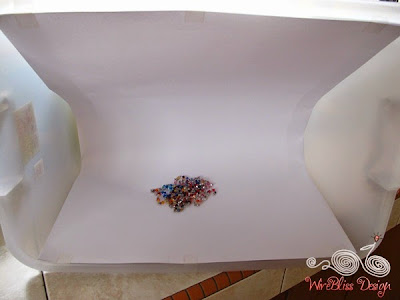 DIY Light Box with Plastic Storage Container by WireBliss - taking picture