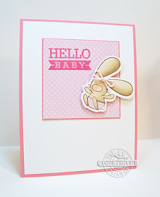 Hello Baby card-designed by Lori Tecler/Inking Aloud-stamps from The Cat's Pajamas