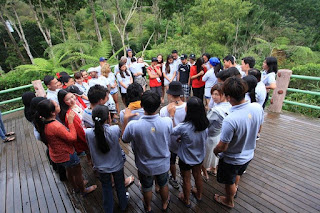 team building at the Balinsasayao Twin Lakes in Negros Oriental, Philippines