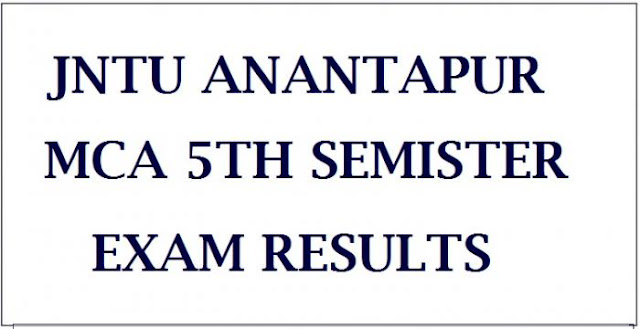 JNTUA MCA 5th Sem Regular & Supply Exam Results Oct 2018