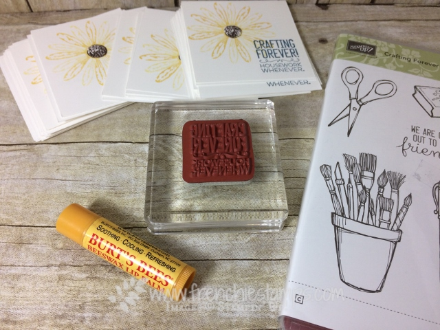 Clear mount stamps stick on block, Stampin'Up!