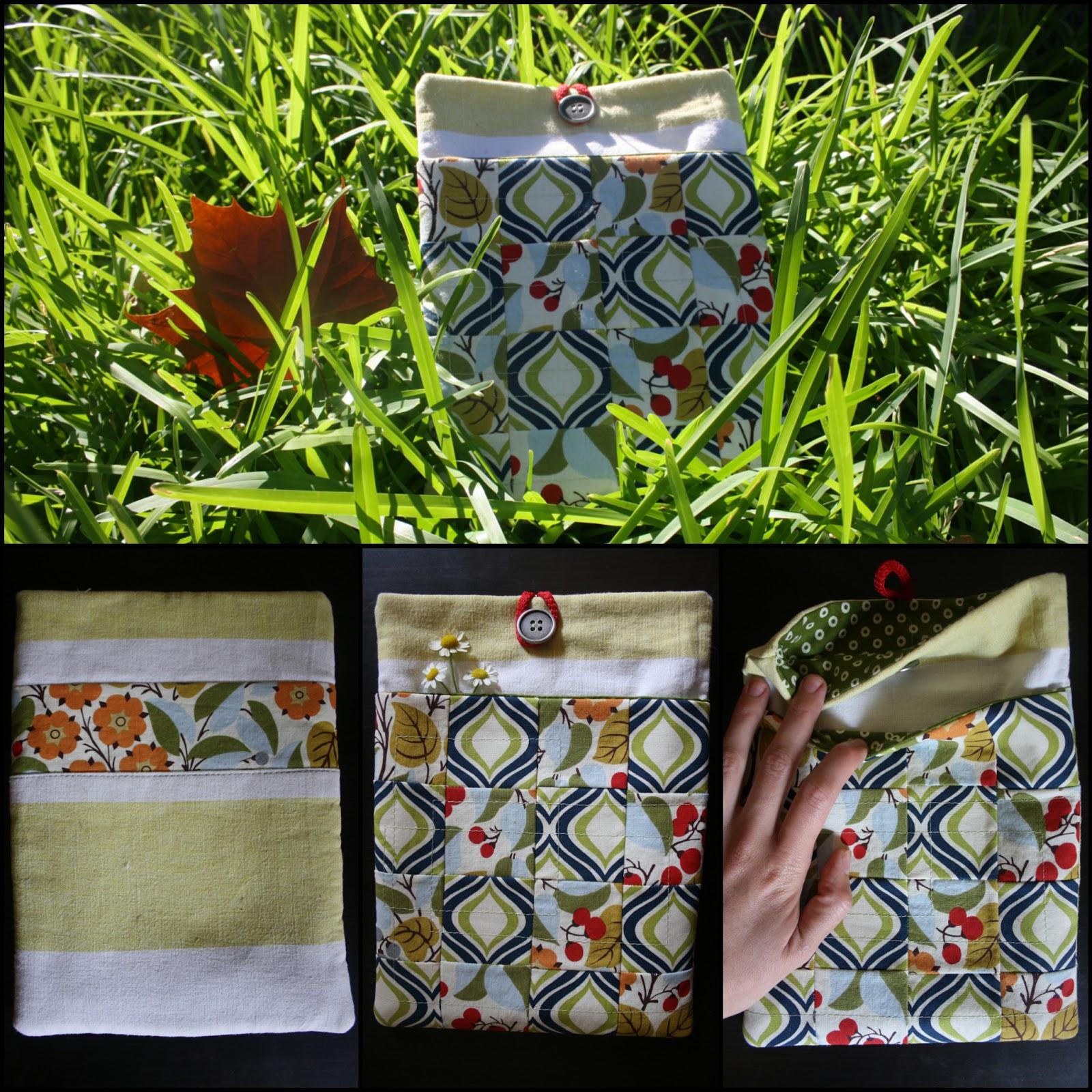 kleiner n hgarten eine patchwork ipad tasche n hen. Black Bedroom Furniture Sets. Home Design Ideas