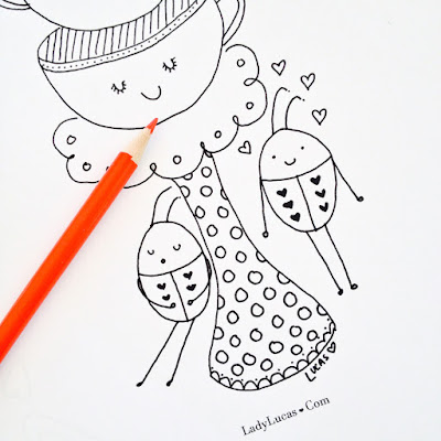 Ladybug Coloring Page by Lady Lucas