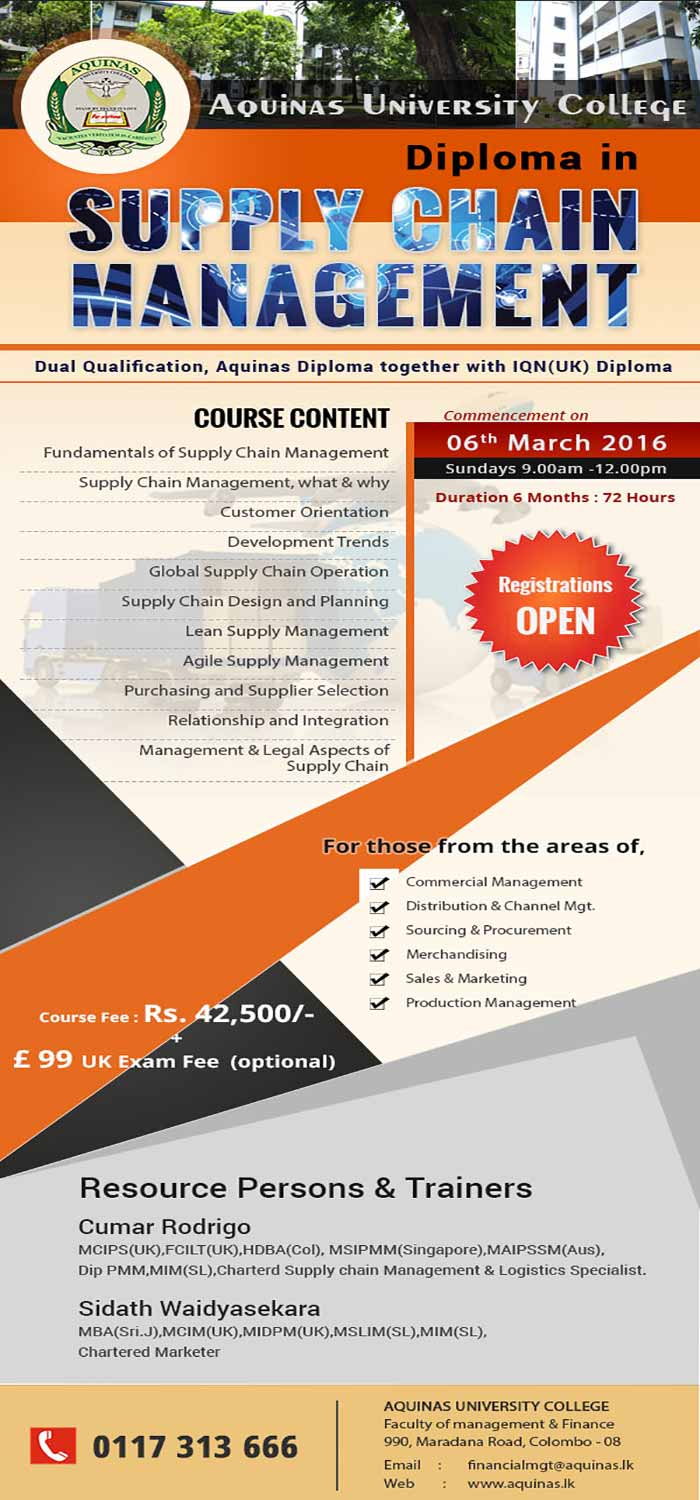 Diploma in Supply Chain Management- New Intake