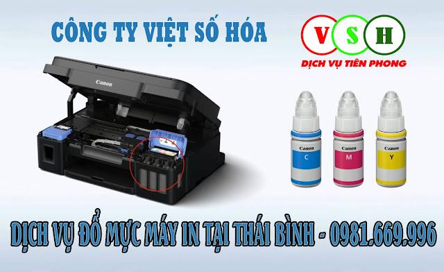 Đổ mực máy in tại Thái Bình
