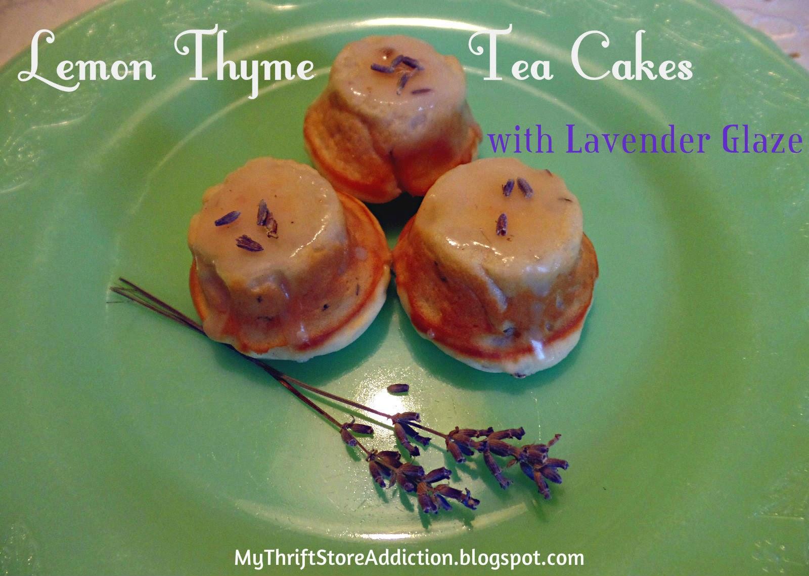 Lemon thyme tea cups
