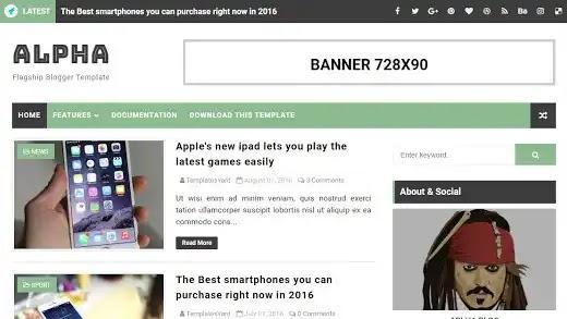 Alpha Blogger Template Terbaru  || SEO Friendly Free blogger templates 2021
