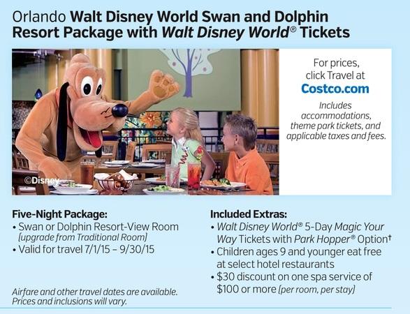 Orlando Walt Disney World Swan And Dolphin Resort Package