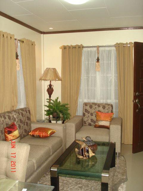 Home interior designs of royale 146 house model of royal - Small space living room designs philippines ...