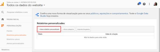 Google Analytics: Criando relatórios personalizados