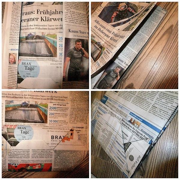 DIY Papiertüten basteln aus Zeitung