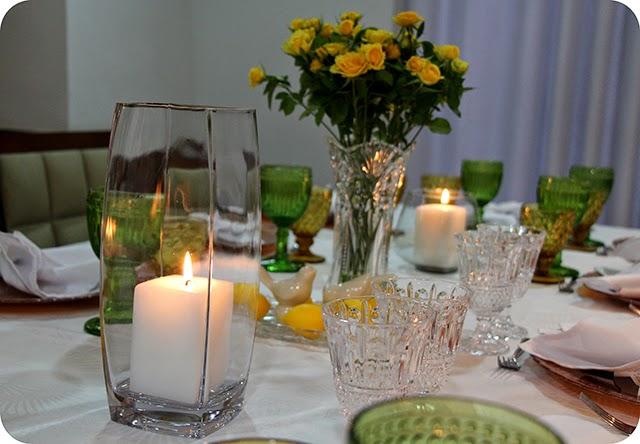 Decoração do Jantar de Noivado Velas