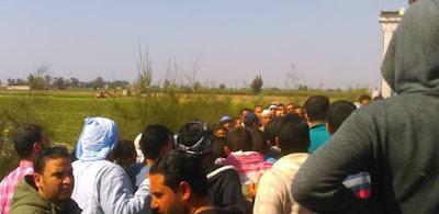 اصطدم قطاران على خط ايتاي البارود - القاهرة