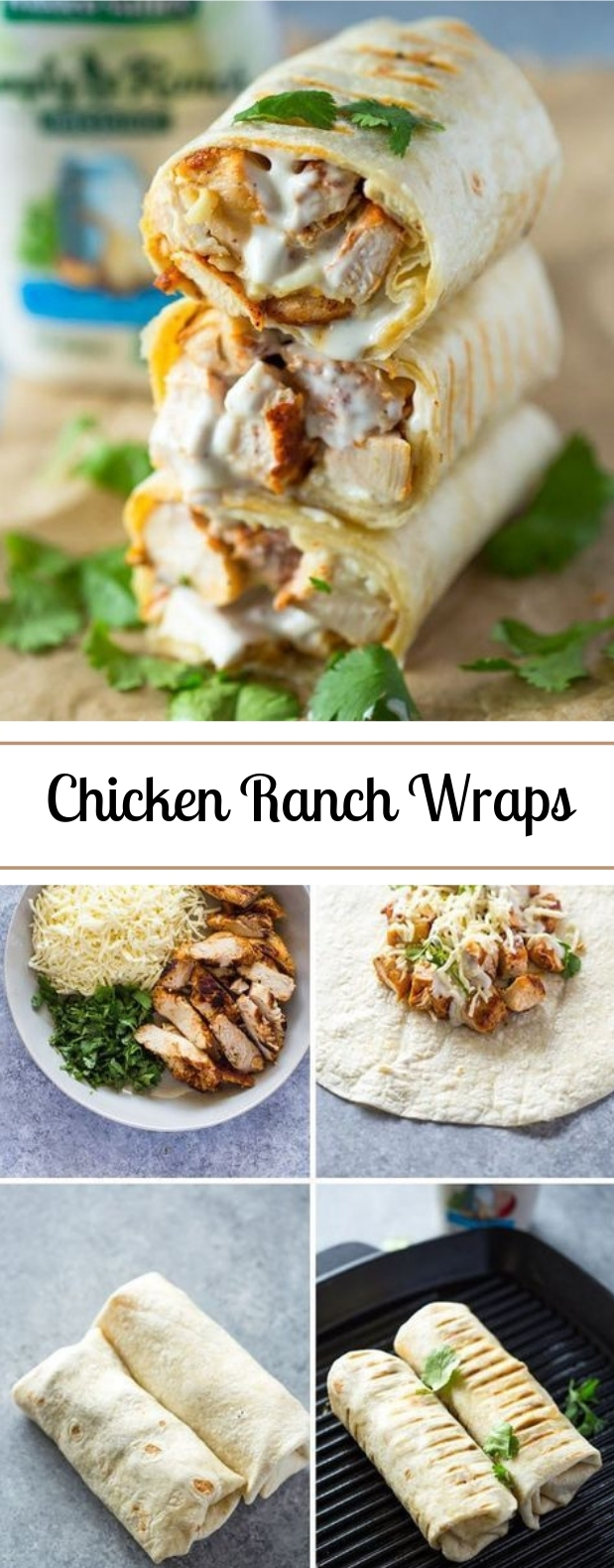 Chicken Ranch Wraps #wraps #lunch
