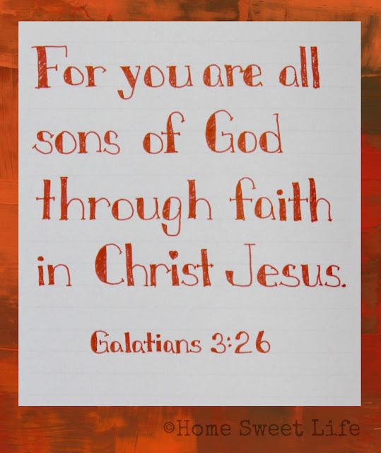 Scripture Writing, Galatians 3:26