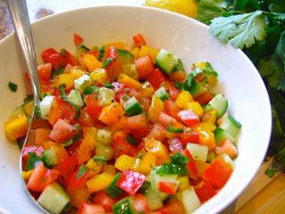 Israeli vegetable salad