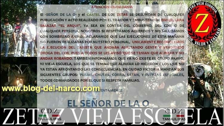 Desaparecen los Zetas del Grupo Bravo y Vieja Escuela en Ciudad Victoria, ahora se llaman CDZ y son aliados del CDG