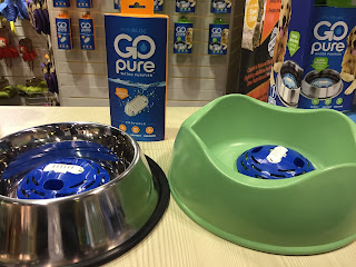GoPure Pet filters water and keeps the bowl clean.