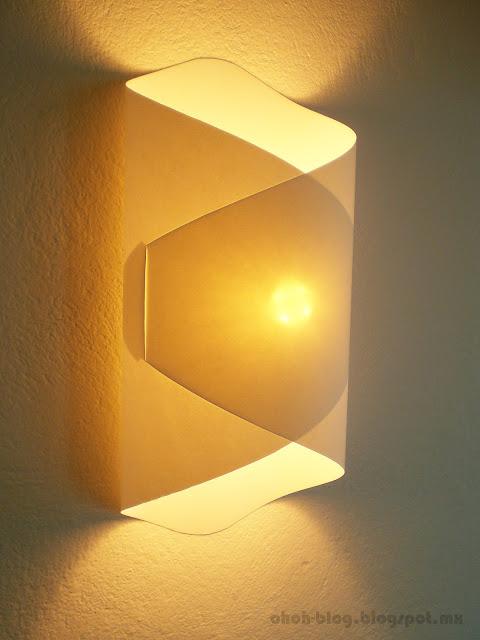 Diy paper lamp lampara de papel ohoh blog - Paper light fixtures ...