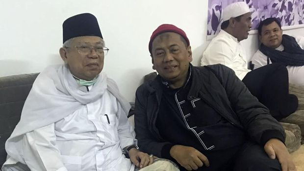 Ma'ruf Amin Cuma Titip Salam ke Habib Rizieq saat di Mekah
