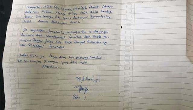 Perempuan yang Berencana Bom Bunuh Diri di Istana, Sudah Tinggalkan Surat Wasiat