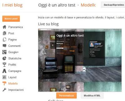 Come ripristinare il modello di un blog su blogger