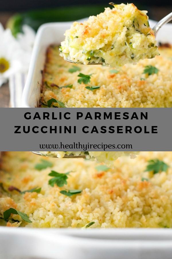 GARLIC PARMESAN ZUCCHINI CASSEROLE #casserole #weightwatchers
