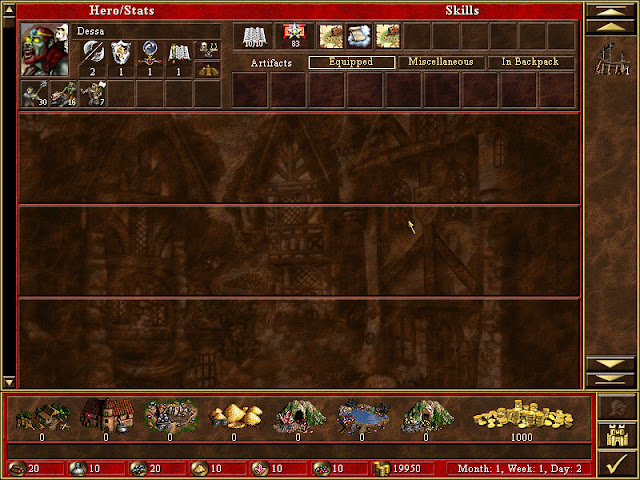 Kingdom Screen | Heroes of Might and Magic 3
