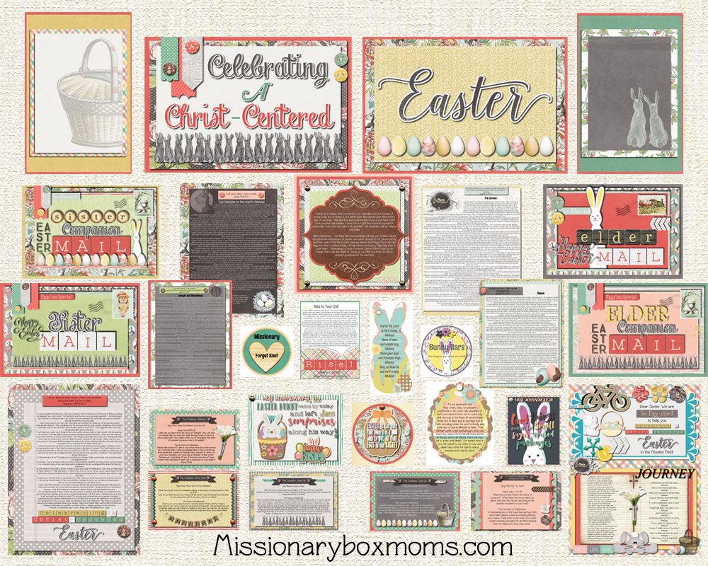 Lds missionary care package kits ideas missionary box moms this missionary easter care package kit is designed to give you a quick and easy way to send your missionary a spiritual fun care package negle Images