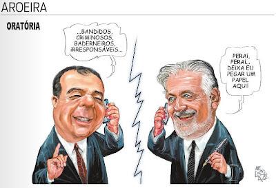 Resultado de imagem para CHARGE ENGRAÇADO SERGIO CABRAL É PRESO