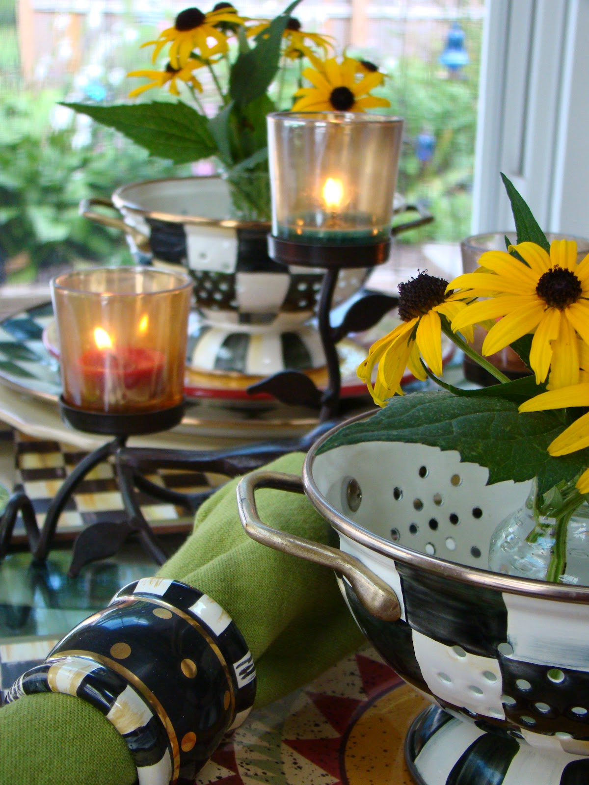 MACKENZIE-CHILDS TABLESCAPE AND THE SOLITARY SUNFLOWER - Mountain ...