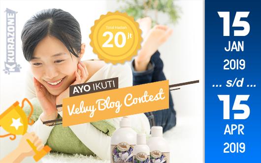 Kompetisi Blog - Velvy Beauty Berhadiah Uang Tunai Total 20 Juta Rupiah (15 April 2019)