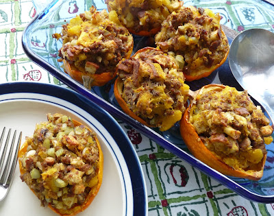 Acorn Squash with Sausage Stuffing