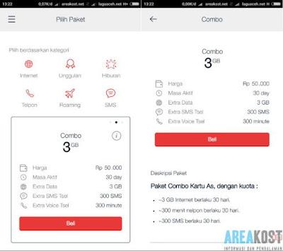 Cara Membeli Promo Paket Internet Telkomsel Combo 3GB + Bonus Nelpon Dan SMS Hanya 50 Ribu