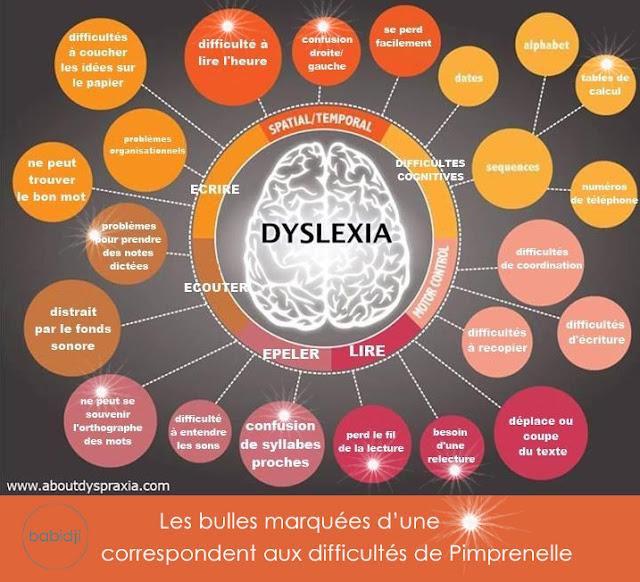 Représentation des difficultés chez les dyslexiques et en particulier de la fille de la blogueuse babidji