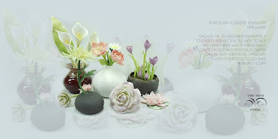 ceramic flowers, porcelain flowers