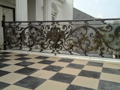 pagar tempa mewah untuk pagar rumah